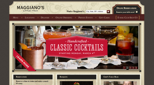 Maggianos-Website