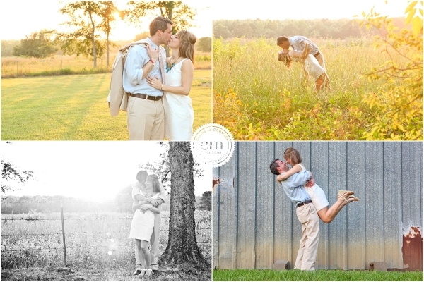 Lousianna sunsets, fields, wedding