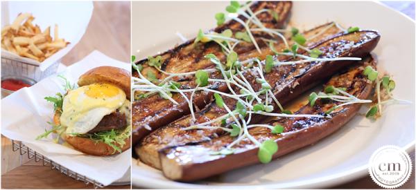 MISO EGGPLANT || japanese eggplant, shiro miso glaze, bonito shavings, daikon sprouts