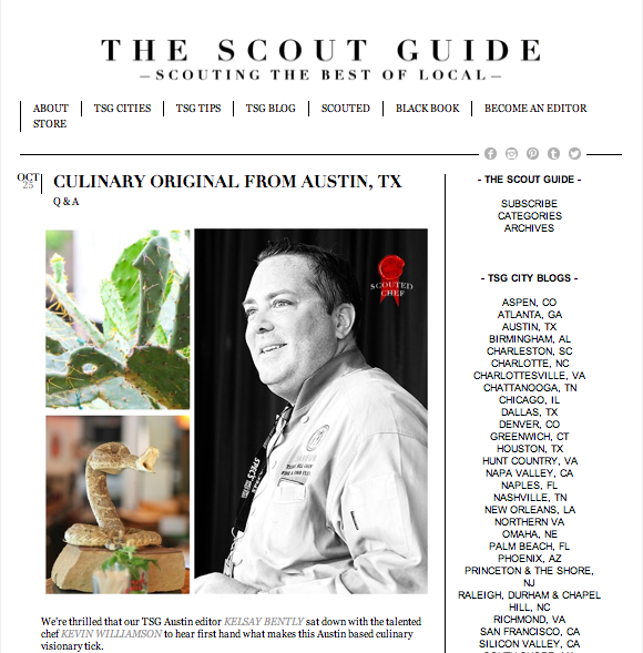 The Scout Guide Austin, Ranch 616, Food Photography, Kevin Williamson